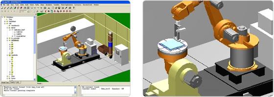 一个使用Kuka机器人的焊接操作单元的模拟